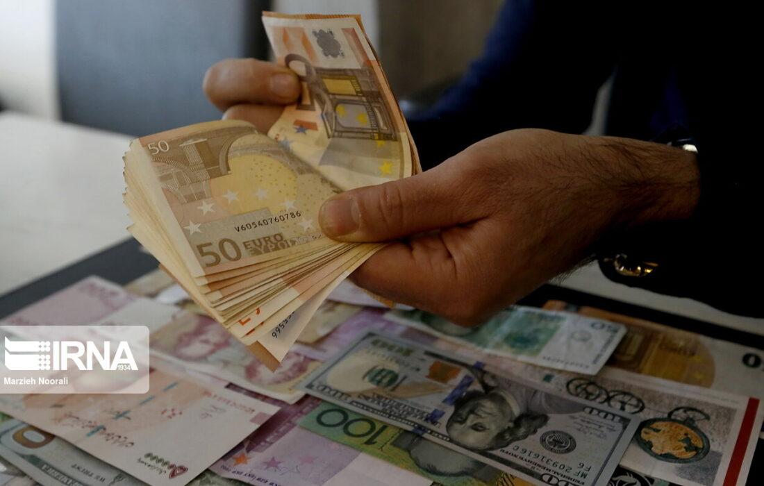 نرخ رسمی یورو و ۲۲ ارز رسمی کاهش یافت
