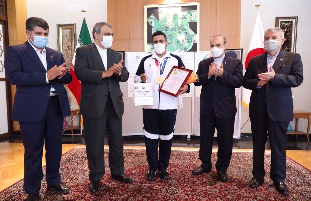 سفیر ایران از نخستین مدالآور طلایی ایران قدردانی کرد