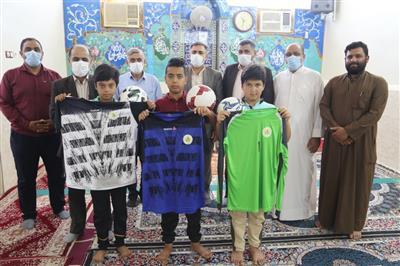 اهدای البسه و لوازم ورزشی به ورزشکاران کوی ولیعصر(عج) روستای جنگیه