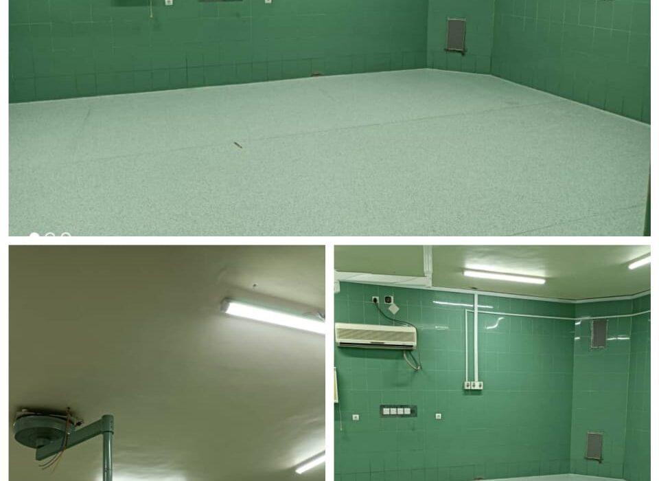 راه اندازی برق اتاق عمل بیمارستان شهید اشرفی اصفهانی  شهرستان آغاجاری