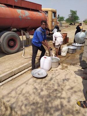 آب رسانی شرکت پالایش گازبیدبلند به مناطق متاثر از تنش آبی در استان خوزستان