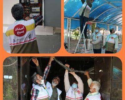 رفع اشکال از سیستم روشنایی بیمارستان شفا اهواز توسط گروه جهادی بسیج شرکت نفت و گاز کارون