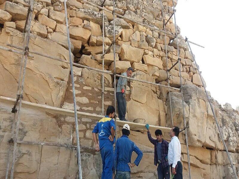 مرمت قلعه بردی در اندیکا آغاز شد