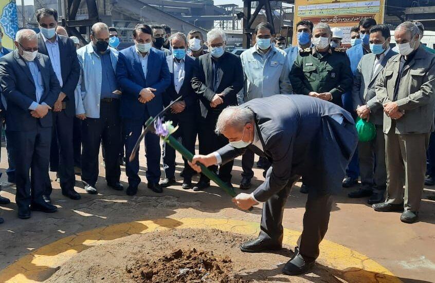 عملیات اجرایی سه طرح توسعهای در شرکت فولاد خوزستان آغاز شد