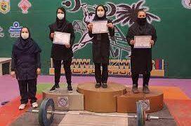 قهرمانی مسجدسلیمان در پایان هفته اول لیگ وزنهبرداری بانوان خوزستان